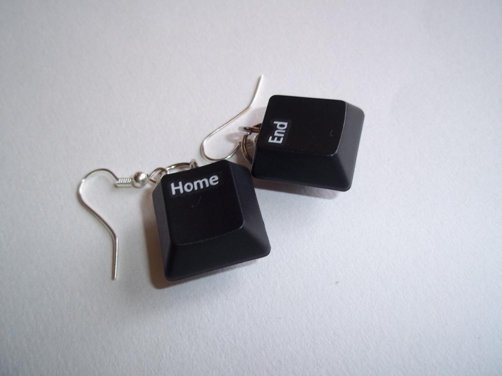 Recycled Keyboard Key Earrings Home/End